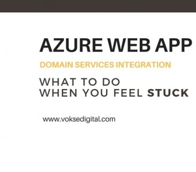Creating Azure Web App with Domain Service enabled